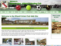 Elland Cricket Club web site